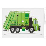 Camión de basura tarjetón