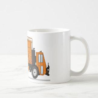 Camión de basura taza de café
