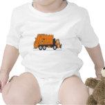 Camión de basura traje de bebé