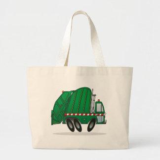 Camión de basura verde bolsa tela grande