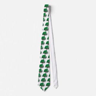 Camión de basura verde corbatas personalizadas