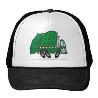 Camión de basura verde gorro