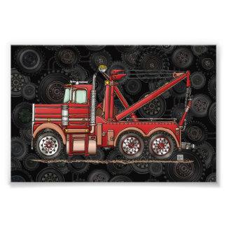 Camión de camión de auxilio lindo arte fotográfico