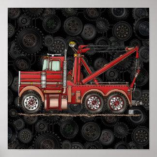 Camión de camión de auxilio lindo póster