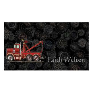 Camión de camión de auxilio lindo tarjetas de visita