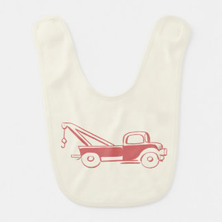 Camión de camión de auxilio rojo retro adorable babero de bebé