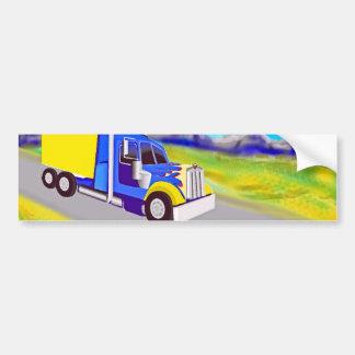 Camión de carga pegatina para auto