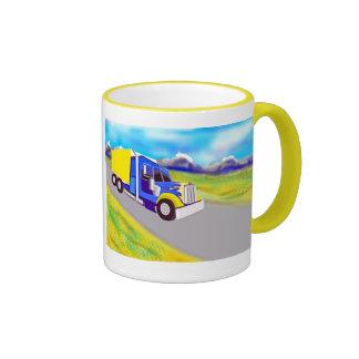 Camión de carga taza de dos colores