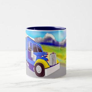 Camión de carga taza de dos tonos
