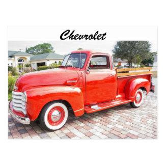 Camión de Chevrolet del vintage Tarjetas Postales