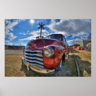 Camión de Chevy de los comienzos de los años 50 Poster