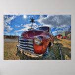 Camión de Chevy de los comienzos de los años 50 Póster