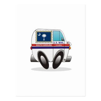 Camión de correo CAROLINA DEL SUR Tarjeta Postal