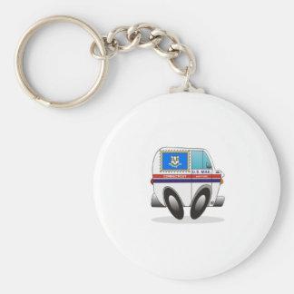 Camión de correo CONNECTICUT Llavero Redondo Tipo Pin