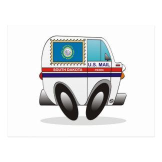 Camión de correo DAKOTA DEL SUR Tarjeta Postal