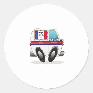 Camión de correo IOWA Pegatina Redonda