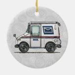 Camión de correo lindo adorno para reyes