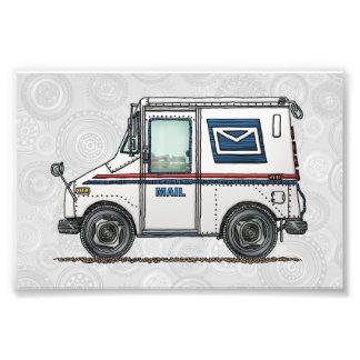 Camión de correo lindo fotografías