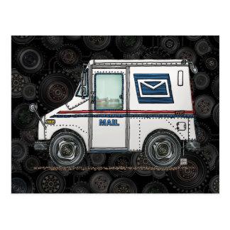 Camión de correo lindo tarjetas postales