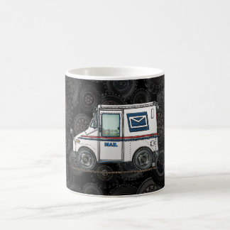 Camión de correo lindo tazas de café