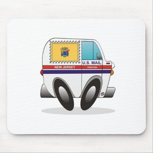 Camión de correo NEW JERSEY Tapete De Ratones