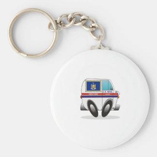 Camión de correo NUEVA YORK Llavero Redondo Tipo Pin