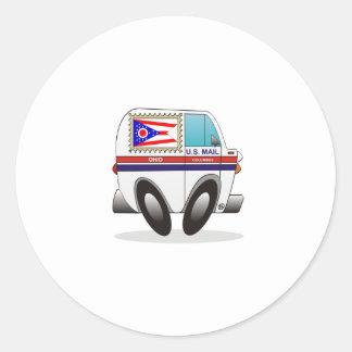 Camión de correo OHIO Pegatina Redonda