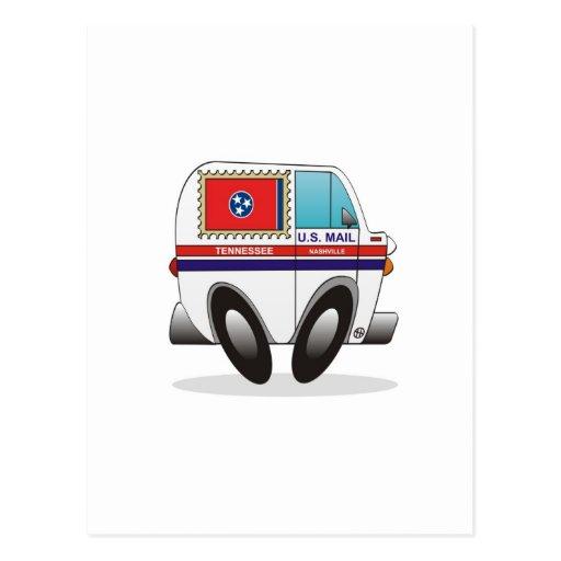 Camión de correo TENNESSEE Tarjeta Postal