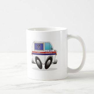 Camión de correo UTAH Taza Básica Blanca