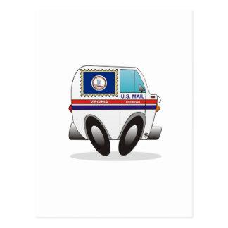 Camión de correo VIRGINIA Tarjetas Postales