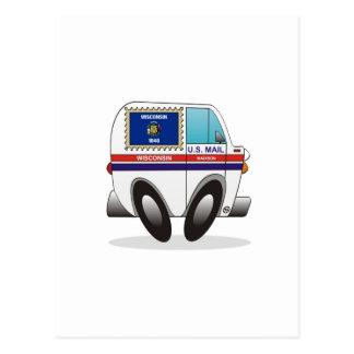 Camión de correo WISCONSIN Tarjeta Postal