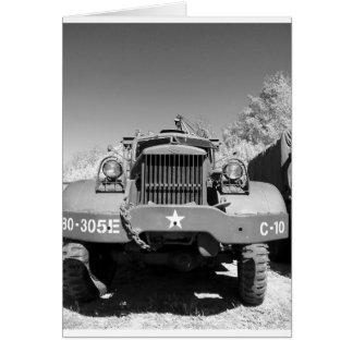 Camión de ejército grande tarjeton