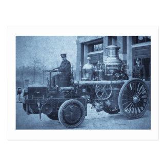Camión de la autobomba del coche de bomberos del tarjetas postales