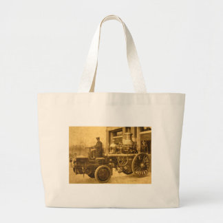Camión de la autobomba del coche de bomberos del v bolsa tela grande
