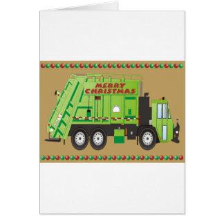 Camión de la basura tarjeta de felicitación
