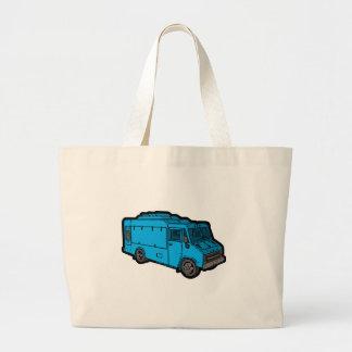 Camión de la comida: Básico (azul) Bolsa Tela Grande