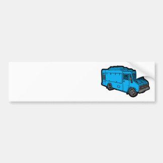 Camión de la comida: Básico (azul) Pegatina Para Auto