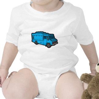 Camión de la comida: Básico (azul) Traje De Bebé