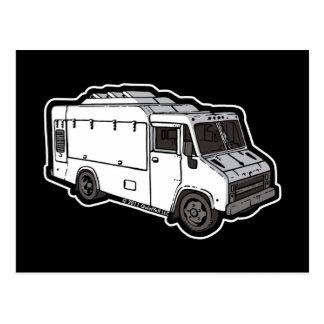 Camión de la comida: Básico (blanco) Postales