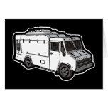 Camión de la comida: Básico (blanco) Tarjeton