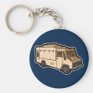 Camión de la comida: Básico (crema) Llaveros