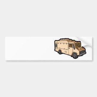Camión de la comida: Básico (crema) Pegatina Para Auto