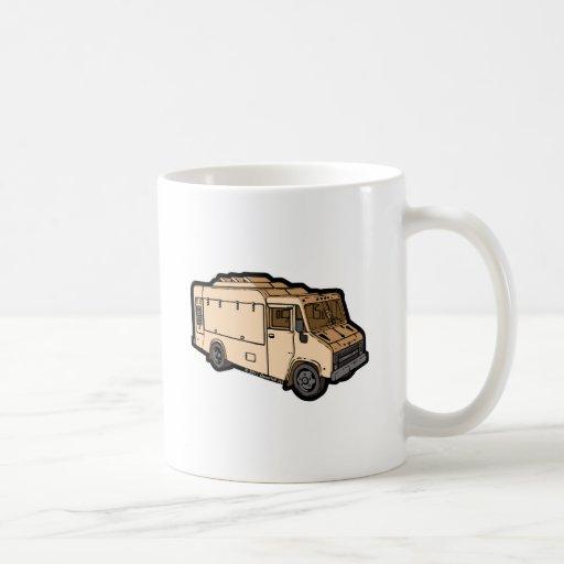 Camión de la comida: Básico (crema) Taza Básica Blanca