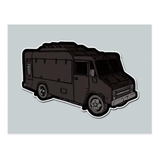 Camión de la comida: Básico (negro) Tarjetas Postales