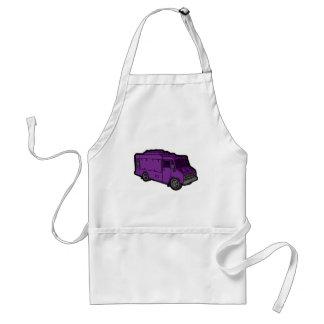 Camión de la comida: Básico (púrpura) Delantal