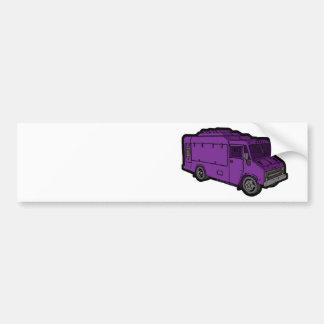 Camión de la comida: Básico (púrpura) Pegatina Para Auto