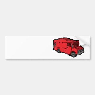 Camión de la comida: Básico (rojo) Pegatina Para Auto