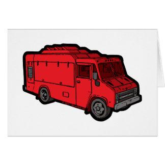 Camión de la comida: Básico (rojo) Tarjeton