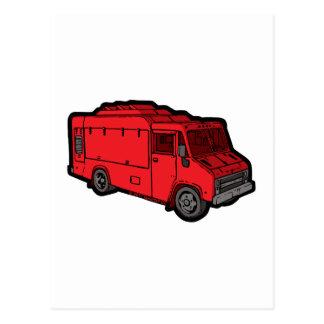Camión de la comida: Básico (rojo) Tarjetas Postales