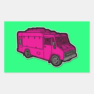 Camión de la comida: Básico (rosa) Rectangular Altavoz
